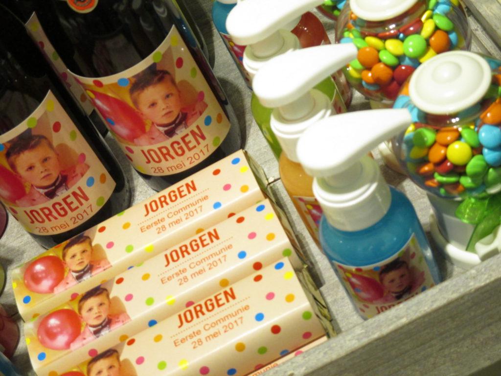 Communiebedankjes met vrolijke bolletjes voor Jorgen